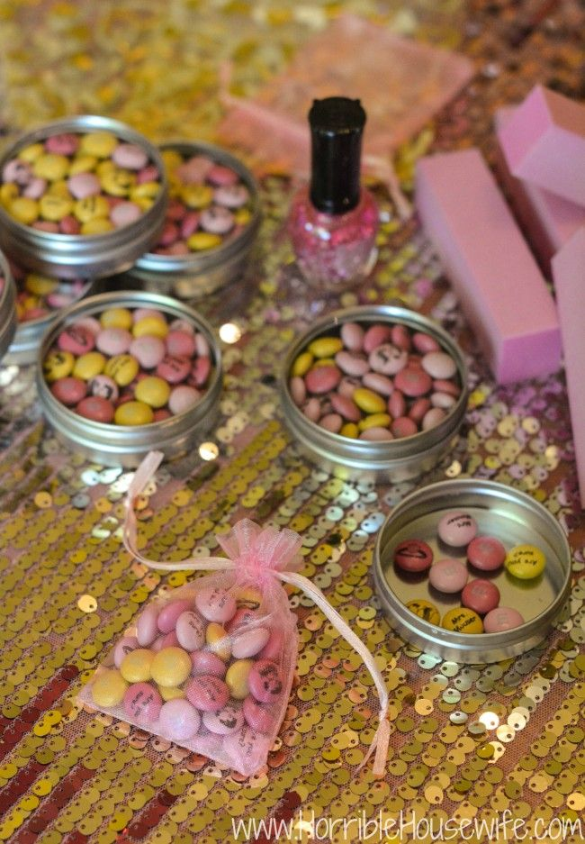Create Personalized Wedding Shower Favors For A Pink And Gold Bridal With My Mm S