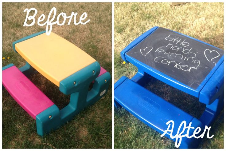 Little tykes picnic table makeover