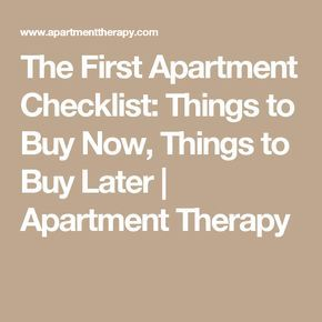 38 best first apartment checklist images on Pinterest | Apartment ...