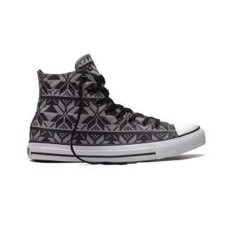 2012 Gray Converse Chuck Taylor AS Print Winter Snowflake Patterns High Top Canvas Shoes