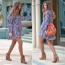 Image result for vestido con botines marrones