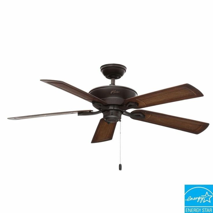 Hunter Caicos 52 in. New Bronze Antique Finish Outdoor Wet Rated Ceiling Fan #Hunter