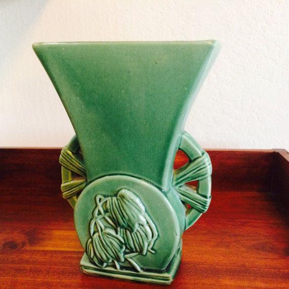 McCoy Pottery Vase Art Deco Hollywood Regency by ACertainFeel