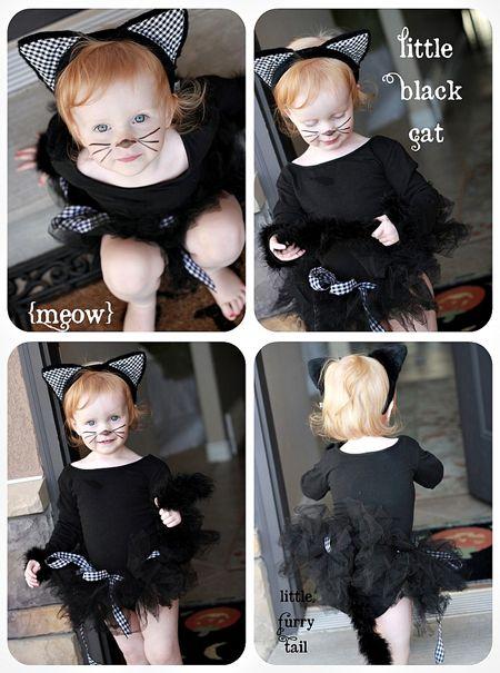 little black cat tutu costume