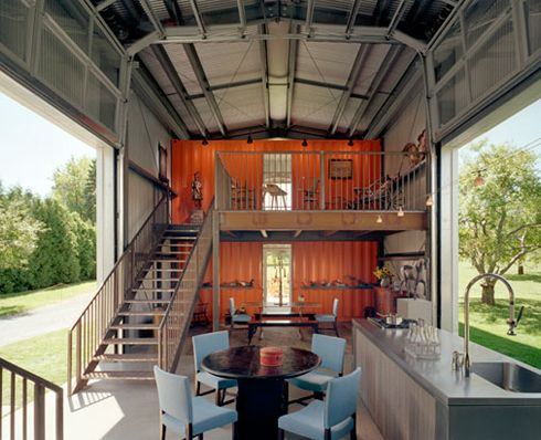 A shipping container turned into a house - a fine example of micro living. Plus, you can ship it anywhere! (Maybe not really, but it's a cool idea)