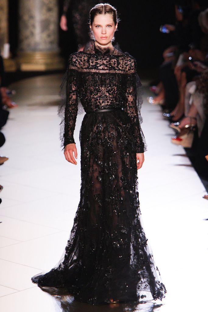 Elie Saab - Pasarela black/lace  #eliesaab #dress #evening