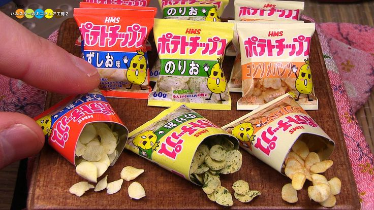DIY Fake food - Miniature Potato chips ミニチュアポテトチップス作り