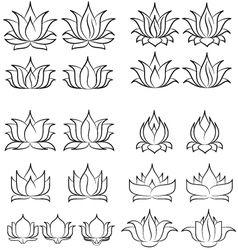 lotus set 2 vector
