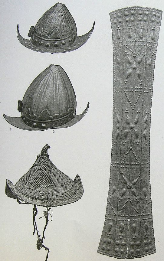 Indoneasian helmets and shield.