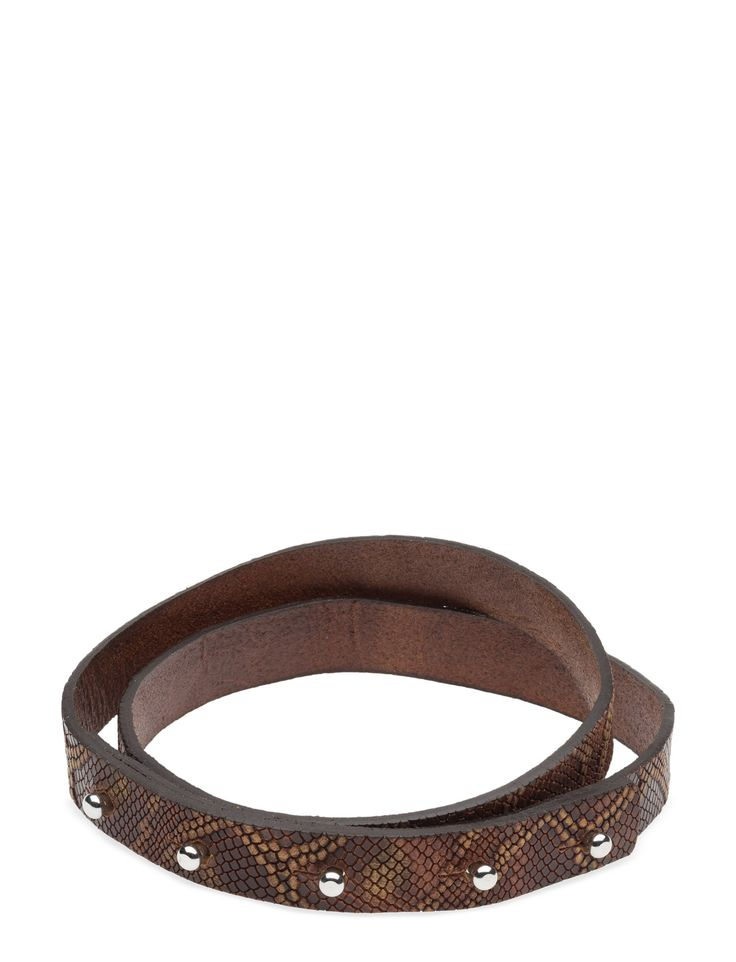 DAY - 2ND Around printed Faux snake skin texture Press stud detail Made from leather Belt