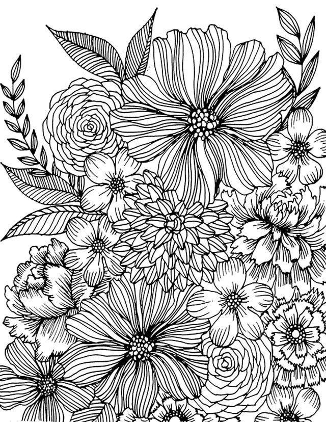Coloring Art Flower Amazing Design