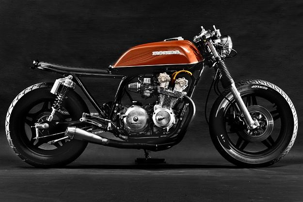 A slick, minimal Honda CB750 from Florida's Steel Bent Customs.  #Honda #HondaCivic #HondaCars