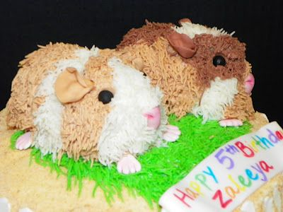 Best Guinea Pig CakesCupcakes Images On Pinterest Pig Cakes - Hamster birthday cake