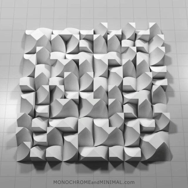 Animation cycle of Permutation 030 by @monocromeandminimal from project:pietern. #3d #abstrakt #bauhaus #construction #design #digital #grid #kunst #minimal #evolution #grow #pattern #pure #white #art #transform #animgif #permutation #mediaart #animation #generative #generativeart #sculpture #minimalismus #construktivism #concrete #constructive #geometricart #pattern #animation