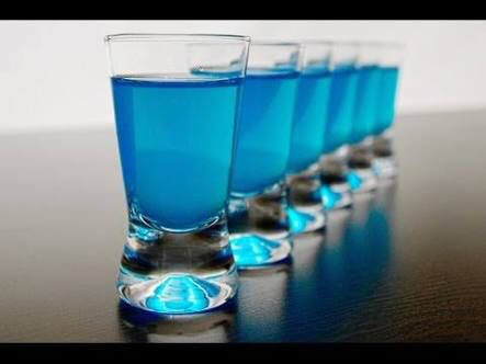 #blue #shot #drink