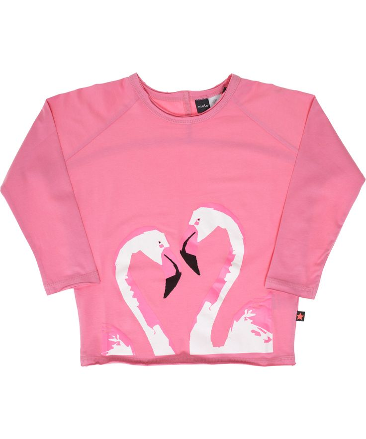 Molo fluo pink flamingos t-shirt. molo.en.emilea.be