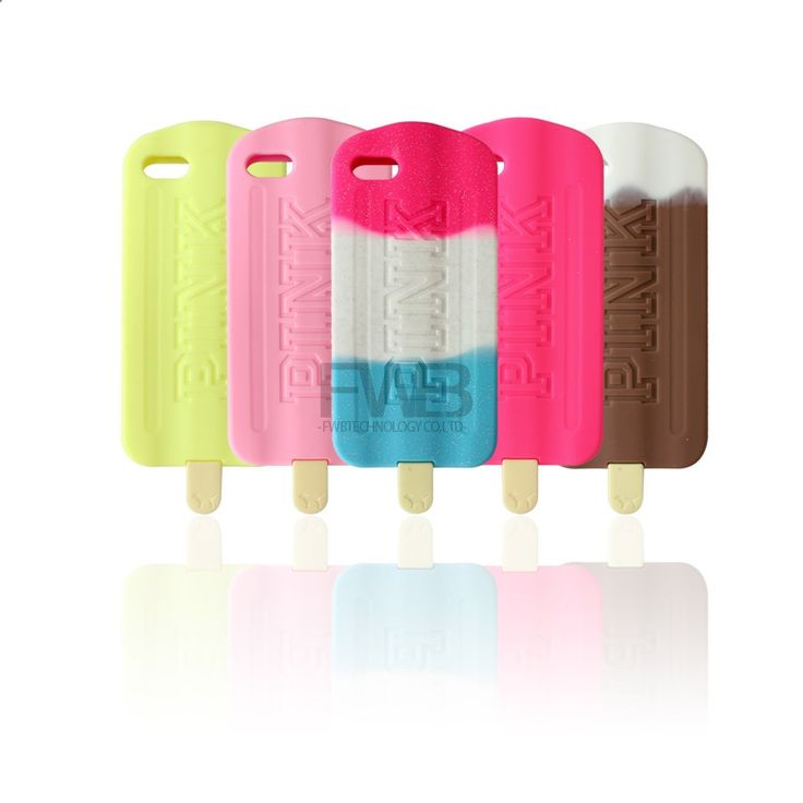 2015 Victoria / ' s Secret PINK Chocolate fresa helado de piña Case para iPhone 4 4 G 4S / 5 5 G 5S suave de silicona Covers en Fundas para Móvil de Telefonía en AliExpress.com | Alibaba Group