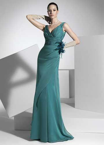 Vestido de madrina verde esmeralda