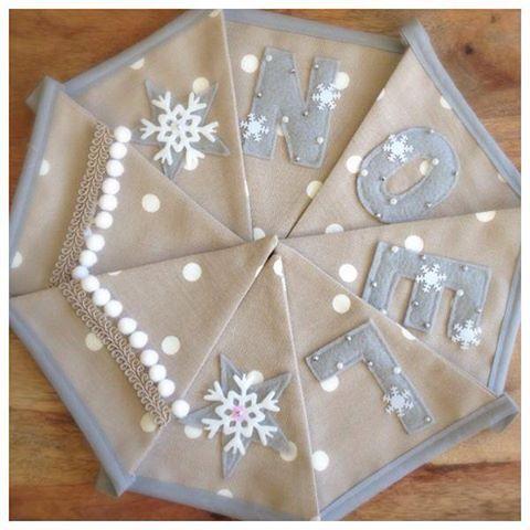 My lovely custom made Christmas bunting