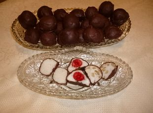 """THE OLD FASHION POTATO CANDY-Chocolate,Peanut Butter,Coconut etc. by Leila Rockwell """"JAP"""""""