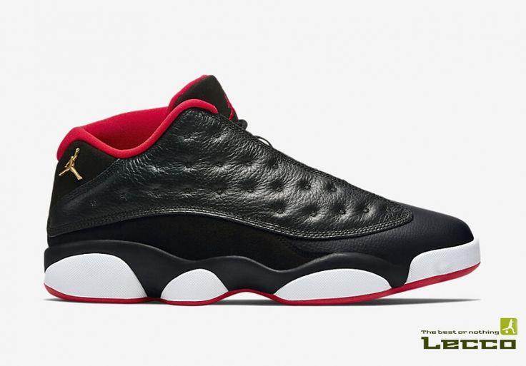 Обувь Мужские баскетбольные кроссовки Air Jordan Retro 13 Low Black/Red/White