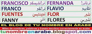 Diseños de tatuajes letras Arabes: Francisco Franco Fuentes Fanny