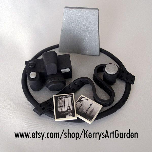 Photographer's Camera Polymer Clay Business Card Holder $30 www.etsy.com/shop/KerrysArtGarden