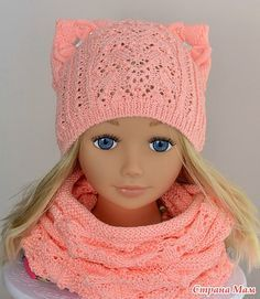 Шапочка на весну для девочки. Увидела в интернете шапочку и загорелась идеей. Схемы подобрала на свой вкус. 1. Центральная - листики 2. Боковая - звездочки.
