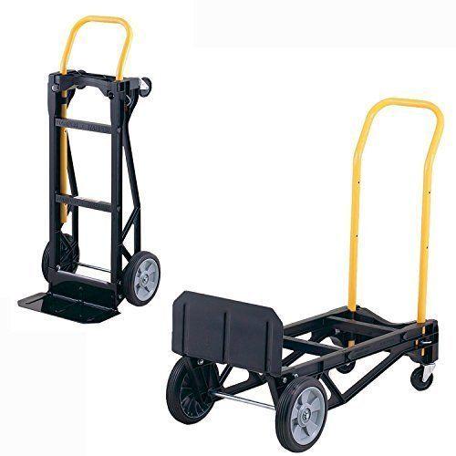 Convertible Hand Dolly 400lb Capacity Truck Cart Portable Moving Equipment Floor #HarperTrucks