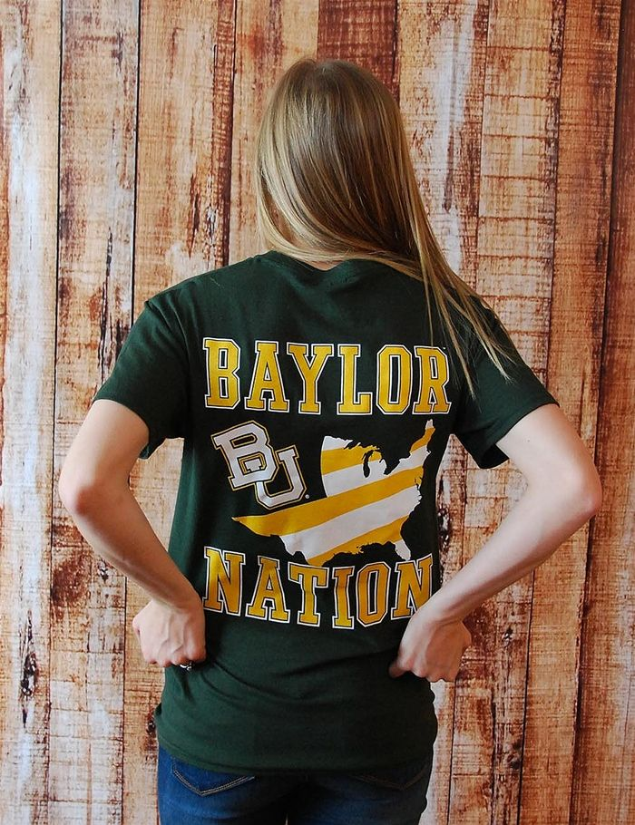 #Baylor Nation t-shirt. #SicEm!Baylor Shirt, Collegiate Shorts Sleeve, Barefoot Campus, Sic Ems Bears, Shorts Sleeve Tees, Baylor Bears, Baylor National, National T Shirts, Baylor T Shirts