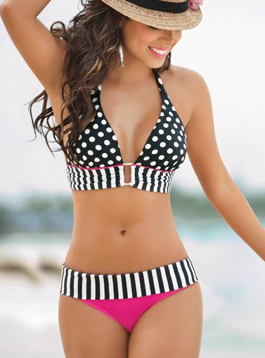 love.Bathing Suits, Polka Dots, Style, Halter Bikini, The Body, Swimsuits, Bikinis, Swimming Suits, Bath Suits