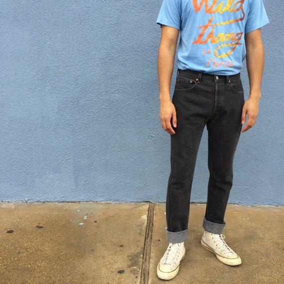 Black Levis 501 Size 30 Jeans Men's Levis Jeans 30 Levis 501 Jeans Size  90s Levis 501s Black Jeans 30 Tapered Black Slim Leg Jeans by DiveVintage from Passport Vintage. Find it now at http://ift.tt/2jVppc2!