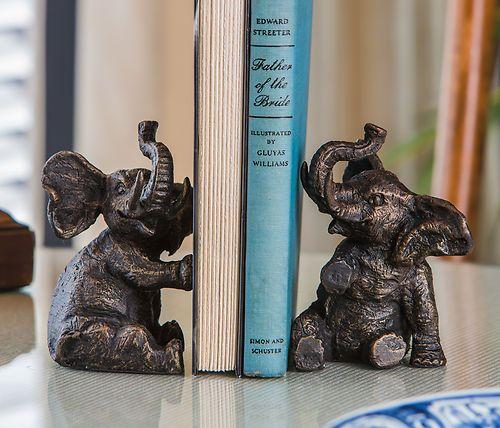 elephant book ends <3                                                                                                                                                     More