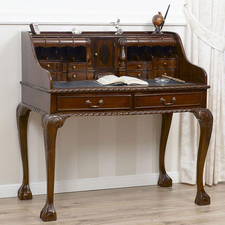 Scrittoio in stile inglese in legno massello realizzato for Mobili in inglese