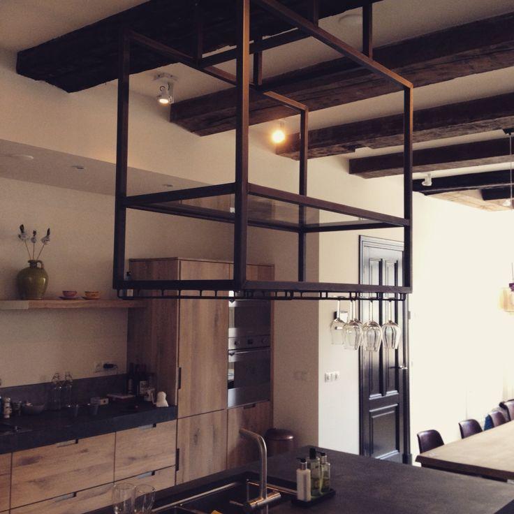 Stalen drankrek appartement prinsengracht amsterdam ontwerp c modo interieur te zien bij rtl - Van interieur appartement ...