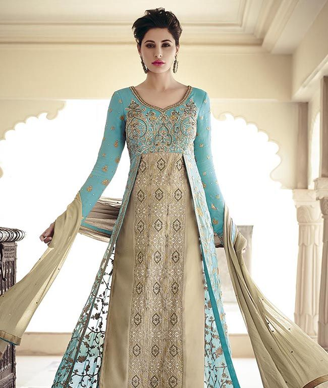 Buy georgette suit with dupatta online at best price in India