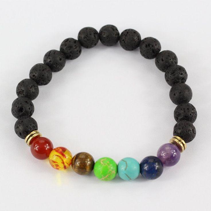 7 Chakra Beaded Charm Bracelet
