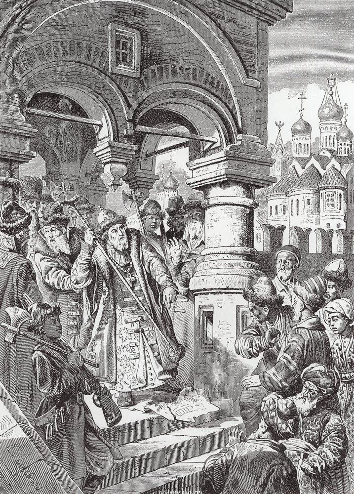 Ivan III succeeded Byzantium as the Third Rome. Konstantin Makovsky