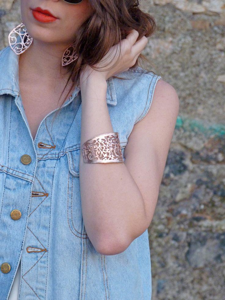 Stroili bracelet and earrings
