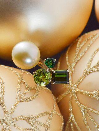 IMAI kuniko KYOTO ---Regardez, une étoile filante !  見てごらん、流れ星! ---#Ring #pearl #jewelry