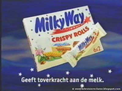 Televisiereclame: Milky Way Crispy Rolls