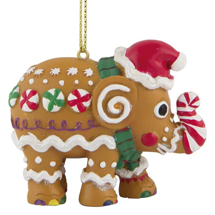 Christmas elephant for hanging, Gingerphant