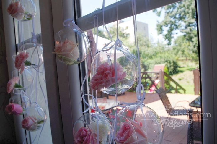 Biało różowe dekoracje wesele Dworek Peszków Głubczyce