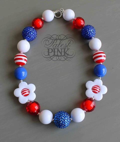 patriotic bubblegum necklace - Google Search