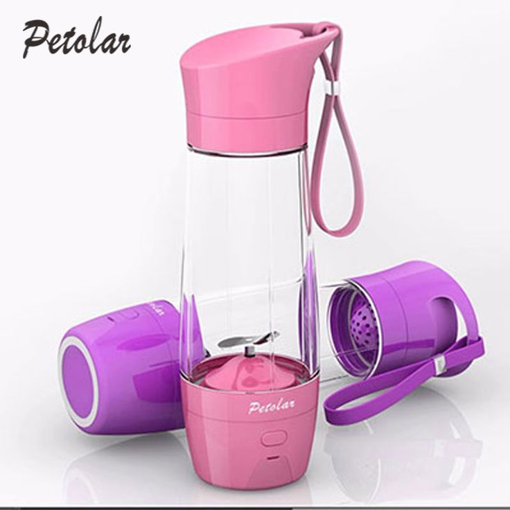 The portable juicer is a mini portable blender with mobile power bank. It is lightweight and useful to carry when you go out. It material is food grade trian pp. You can make juice at home. It is also a good gift for you. There are four colors for choice, which including pink, blue, purple &