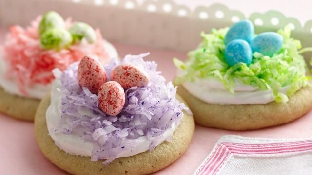 I like the colored coconut.  Would use my own cookie recipe and my own frosting.