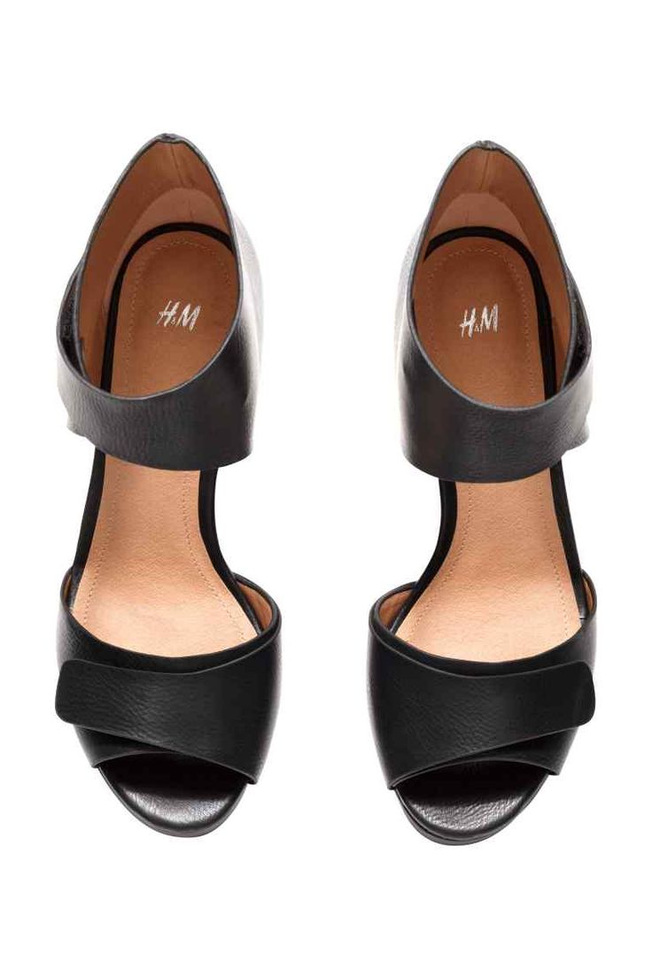 Sandals with a wedge heel | H&M