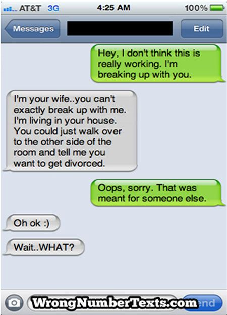 11 Funny Texts Sent to the Wrong Number (sms fail, wrong number) - ODDEE