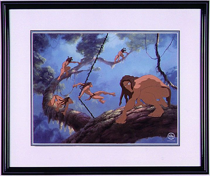 Tarzan - Surfing on a Vine - Sericel - World-Wide-Art.com - #tarzan #disney