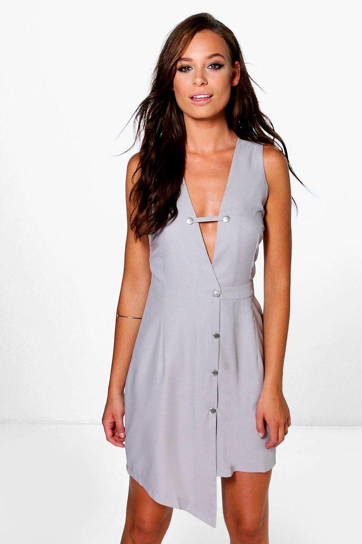 Lucy Asymmetric Button Up Dress